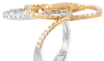 LB Exclusive LB Exclusive 18K White and Yellow Gold 1.89 ct Diamond Ring