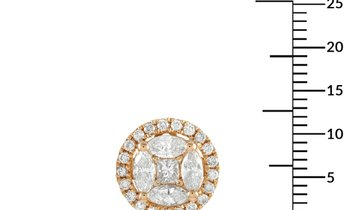 LB Exclusive LB Exclusive 14K Yellow Gold 1.45 ct Diamond Round Earrings