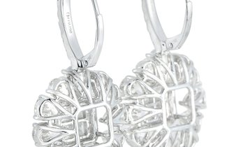 LB Exclusive LB Exclusive 18K White Gold 10.41 ct Diamond Dangle Earrings