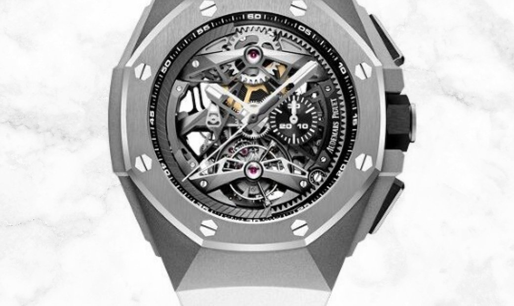 Audemars Piguet 26587TI.OO.D031CA.01 Royal Oak Concept Tourbillon Chronograph Sandblasted Titanium