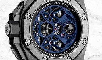 Audemars Piguet 26589IO.OO.D030CA.01 Royal Oak Concept Flying Tourbillon GMT Sandblasted Titanium