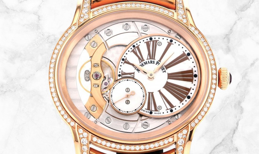 Audemars Piguet 77247OR.ZZ.1272OR.01 Millenary Hand-Wound 18K Rose Gold White Mother-of-Pearl Dial