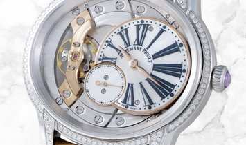 Audemars Piguet 77247BC.ZZ.A813CR.01 Millenary Hand-Wound 18K White Gold White Mother-of-Pearl Dial