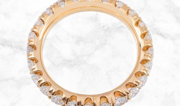2.40CT Brilliant Cut Diamond Eternity Band 18K Rose Gold