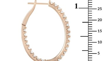 LB Exclusive LB Exclusive 18K Rose Gold 2.85 ct Diamond Hoop Earrings