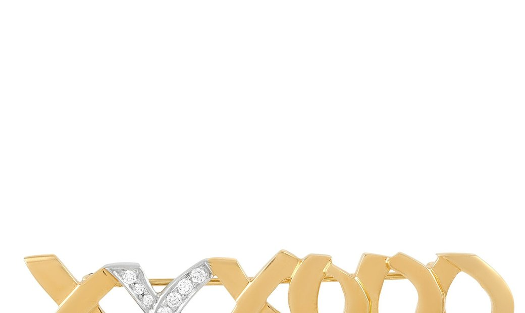 Tiffany & Co. Tiffany & Co. Paloma Picasso 18K Yellow/White Gold and 0.25 ct Diamond Brooch