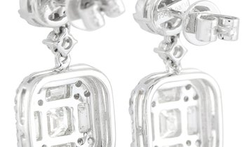 LB Exclusive LB Exclusive 18K White Gold 3.16 ct Diamond Earrings