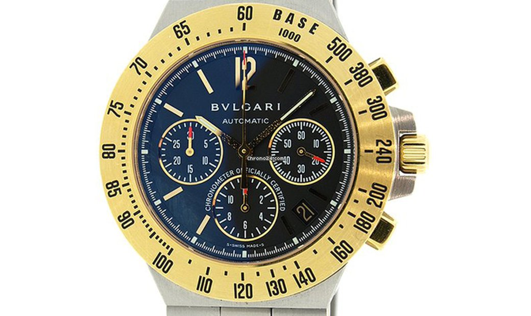 BVLGARI DIAGONO STAINLESS STEEL PROFESSIONAL CHRONOGRAPH MEN'S WATCH CH40SGDTA