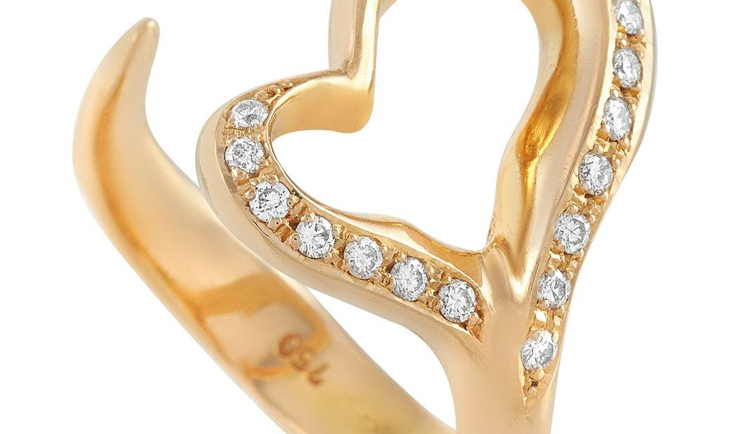 Tiffany & Co. Tiffany & Co. 18K Yellow Gold 0.20 ct Diamond Heart Ring