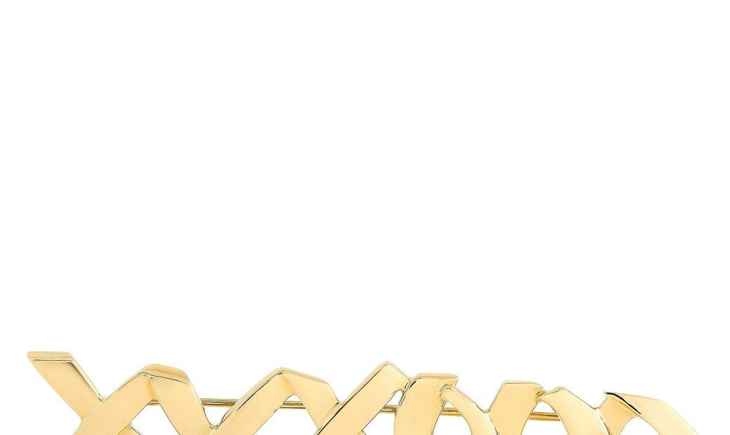 Tiffany & Co. Tiffany & Co. Paloma Picaso 18K Yellow Gold XO Hugs and Kisses Brooch