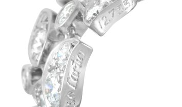 Cartier Cartier 18K White Gold 4.50 ct Diamond Sculpted Vine Eternity Ring