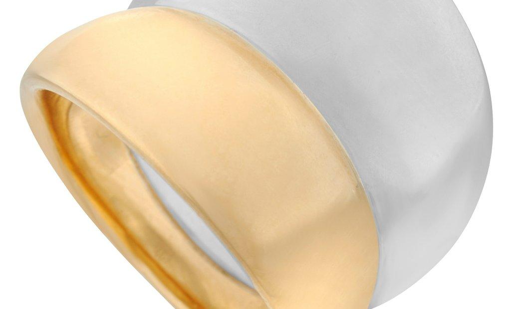 Georg Jensen Georg Jensen 18K Yellow Gold and Sterling Silver Ring