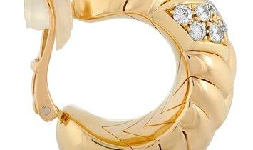 Bvlgari Bvlgari Spiga 18K Yellow Gold 1.27 ct Diamond Clip-On Earrings