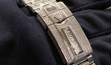 Rolex GMT-Master II Bespoke Oystersteel Diamond Set Dial, Bezel, Case and Bracelet