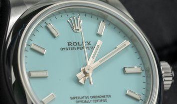 Rolex Oyster Perpetual 31 277200-0007 Oystersteel Turquoise Blue Dial