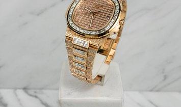 Patek Philippe 57191R Bespoke Rose Gold Full Diamond Set