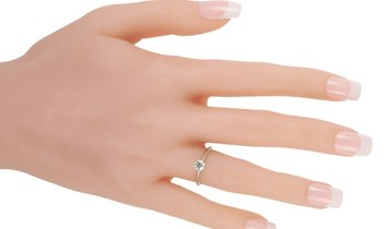 Tiffany & Co. Tiffany & Co. Platinum 0.31 ct Diamond Solitaire Ring