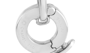 Chanel Chanel 18K White Gold Diamond Floral Link Charm Bracelet