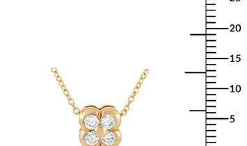 Tiffany & Co. Tiffany & Co. 18K Yellow Gold  0.20 ct Diamond Clover Pendant Necklace
