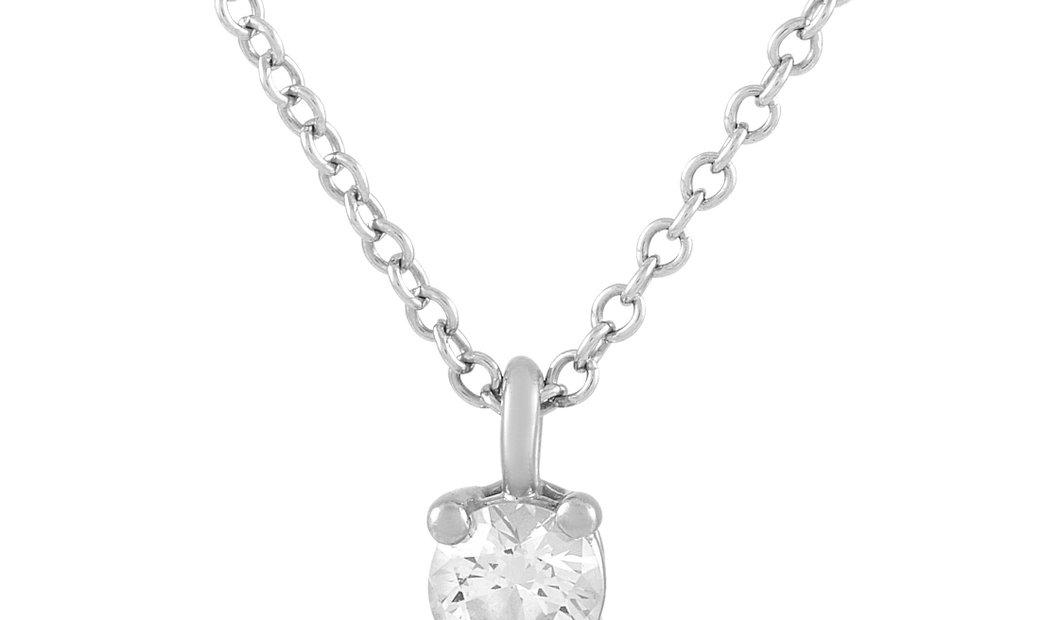 Tiffany & Co. Tiffany & Co. Platinum 0.20 ct Diamond Solitaire Necklace