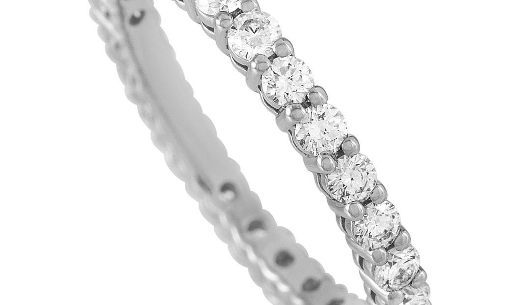 Tiffany & Co. Tiffany & Co. Platinum 1.00 ct Diamond Eternity Band Ring