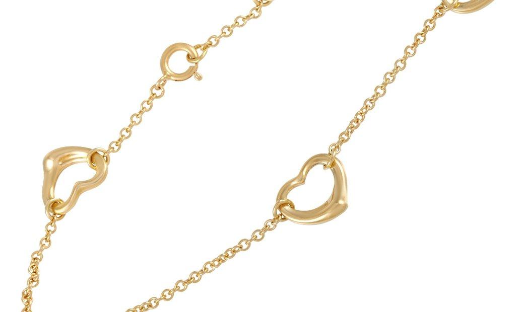 Tiffany & Co. Tiffany & Co. Elsa Peretti 18K Yellow Gold Open Heart Link Bracelet
