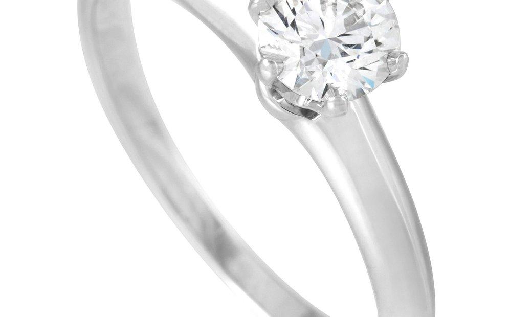 Tiffany & Co. Tiffany & Co. Platinum 0.48 ct Diamond Solitaire Ring