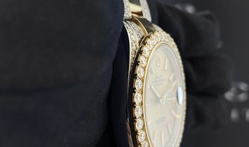 Rolex Datejust 41 Bespoke 126333 Champagne Dial Yellow Rolesor and Diamond Set