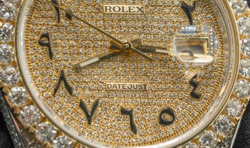 Rolex Datejust Bespoke 126333 Oyster Perpetual in 18 ct Yellow Rolesor Diamond Set