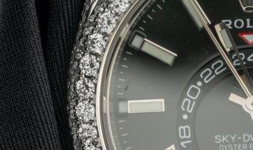 Rolex Sky-Dweller 326934 Bespoke Oystersteel and White Gold Diamond Set