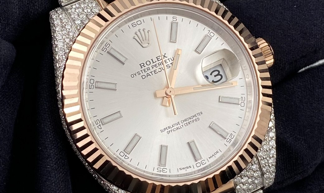 Rolex Datejust Bespoke 126331 Two Tone Silver Dial with Diamond Set Case and Bracelet