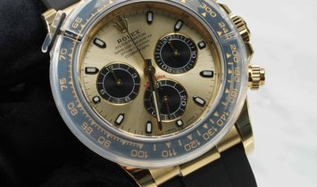 Rolex Daytona Cosmograph 116518LN-0048 Yellow Gold Champagne and Black Dial