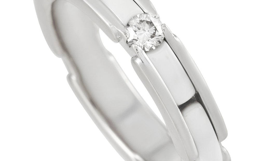 Chanel Chanel Ultra 18K White Gold Diamond & White Ceramic Ring