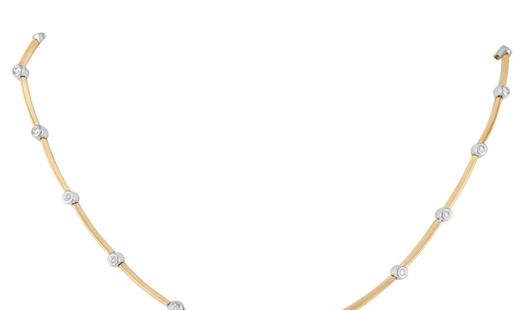 Tiffany & Co. Tiffany & Co. 18K Yellow Gold 1.00 ct Diamond Necklace