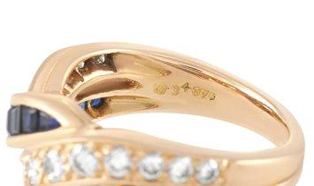Oscar Heyman Oscar Heyman 18K Rose Gold 0.40 ct Diamond and 0.70 ct Sapphire Ring