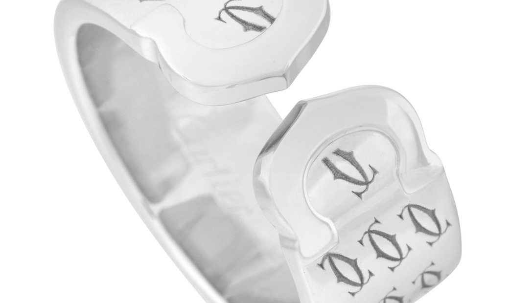 Cartier Cartier 18K White Gold Double C Ring