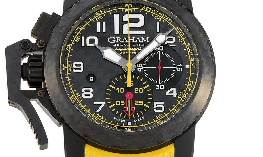 Graham Graham Chronofighter Oversize Superlight Carbon Yellow 47mm Watch 2CCBK.B15A.K103K