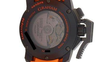 Graham Graham Chronofighter Oversize Superlight Carbon Orange 47mm Watch 2CCBK.O01A