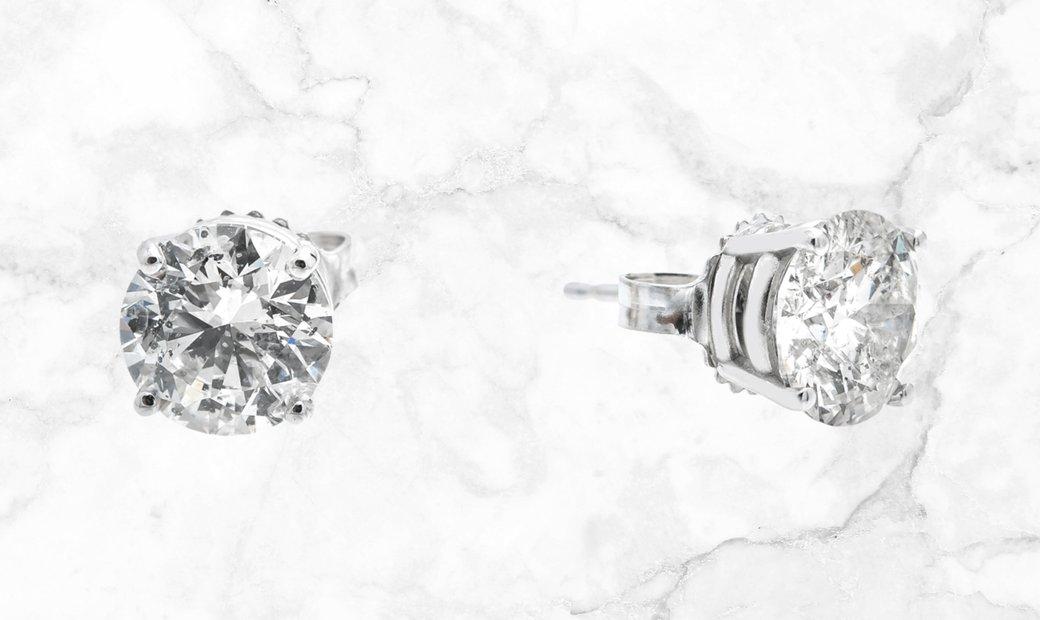 3.00 CT Diamond Studs Set in 18K White Gold