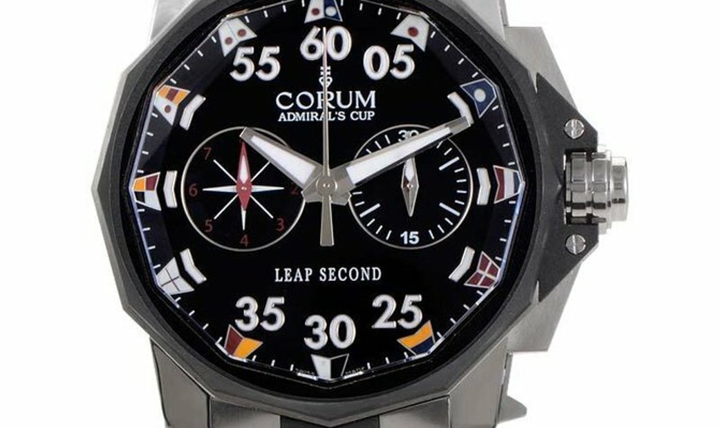 CORUM ADMIRALS CUP LEAP SECOND 48MM TITANIUM AUTOMATIC MEN'S WATCH REF: 895.931.06/V791 AN92
