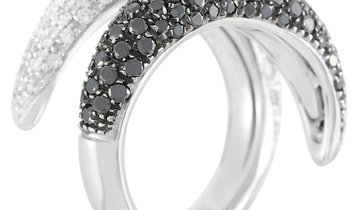 LB Exclusive LB Exclusive 18K White Gold 2.50 ct White and Black Diamond Ring