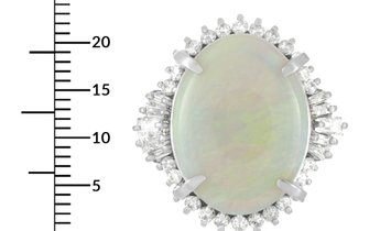 LB Exclusive LB Exclusive Platinum 1.26 ct Diamond and Opal Ring