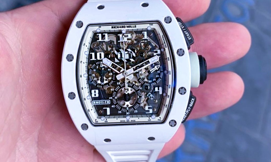 Richard Mille [2016 MINT] RM 011 White Ghost