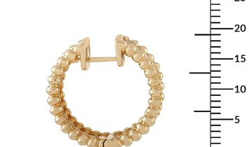 LB Exclusive LB Exclusive 18K Yellow Gold 2.00 ct Diamond Hoop Earrings