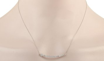 LB Exclusive LB Exclusive 18K White Gold 1.00 ct Diamond Necklace