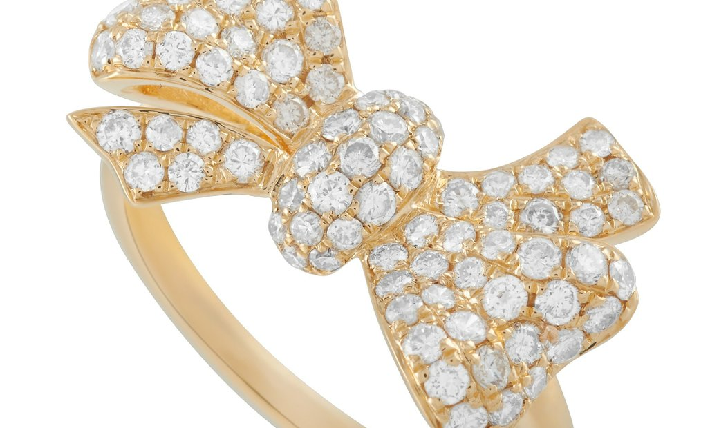 LB Exclusive LB Exclusive 18K Yellow Gold 0.96 ct Diamond Bow Ring