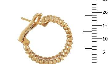 LB Exclusive LB Exclusive 18K Yellow Gold 2.48 ct Diamond Hoop Earrings