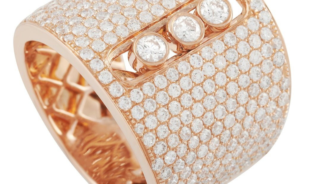 LB Exclusive LB Exclusive 18K Rose Gold 2.02 ct Diamond Wide Band Ring