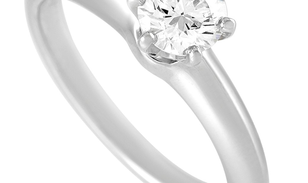 Tiffany & Co. Tiffany & Co Platinum Solitaire 0.52 ct Diamond Ring