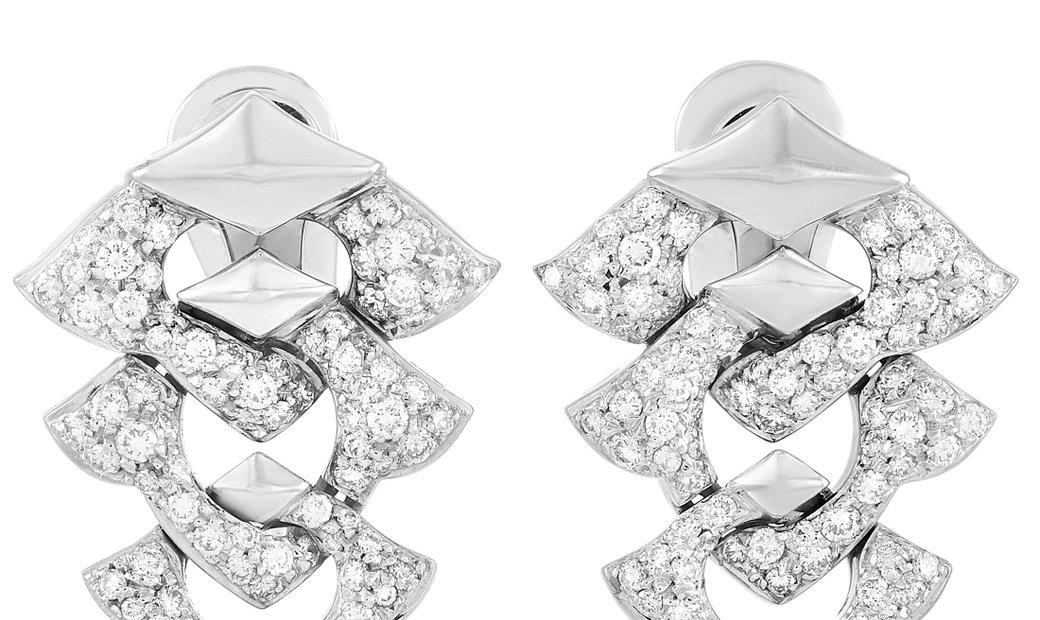 Bvlgari Bvlgari 18K White Gold 2.00 ct Diamond Earrings